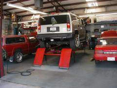 Cars in shop